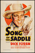 """Movie Posters:Western, Song of the Saddle (Warner Brothers - First National, 1936). One Sheet (27"""" X 41""""). Western.. ..."""