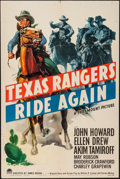"Movie Posters:Western, Texas Rangers Ride Again (Paramount, 1940). One Sheet (27"" X 41""). Western.. ..."