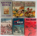 Books:Pulps, [Westerns]. Group of Six. Various publishers, ca. 1940's. Includeswesterns by Max Brand, Dan Scott, and Luke Short. Origi... (Total:6 Items)