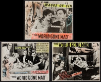 "World Gone Mad (Majestic, 1933). Photos (9) (8"" X 10""). Mystery. ... (Total: 9 Items)"