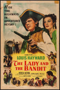 "Movie Posters:Adventure, The Lady and the Bandit (Columbia, 1951). One Sheet (27"" X 41"").Adventure.. ..."