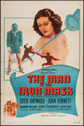 "Movie Posters:Adventure, The Man in the Iron Mask (PRC, R-1947). One Sheet (27"" X 41"").Adventure.. ..."