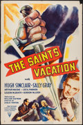"Movie Posters:Mystery, The Saint's Vacation (RKO, 1941). One Sheet (27"" X 41""). Mystery....."