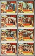 "Movie Posters:War, Okinawa (Columbia, 1952). Lobby Card Set of 8 (11"" X 14""). War.. ... (Total: 8 Items)"