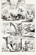 "Original Comic Art:Panel Pages, Pablo Marcos Eerie #104 ""Beastworld"" Page 3 Original Art (Warren, 1979)...."