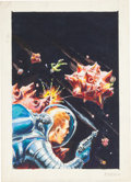 Original Comic Art:Miscellaneous, Ed Emshwiller (Emsh) Asteroid Shootout Cover PreliminaryOriginal Art (undated)....