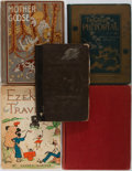 Books:Children's Books, [Children's]. Group of Five. Various publishers, 1858-1938. Allprofusely illustrated. Mother Goose has 240 illust...(Total: 5 Items)