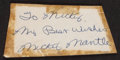 Baseball Collectibles:Others, Mickey Mantle Vintage Cut Signature....