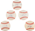Autographs:Baseballs, Dodger Greats Single Signed Baseballs Lot Of 5....