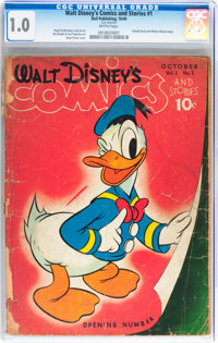 Walt Disney's Comics and Stories #1 (Dell, 1940) CGC FR 1.0 Brittle pages