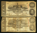 Confederate Notes:1863 Issues, T59 $10 1863 PF-11; PF-35 Cr. 429; Cr. 444.. ... (Total: 2 notes)