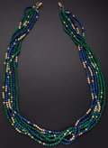 Estate Jewelry:Necklaces, Lapis Lazuli, Malachite, Metal Necklace. ...