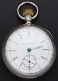 Timepieces:Pocket (post 1900), Hampden 17 Jewel 18 Size Coin Silver Pocket Watch. ...