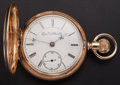 Timepieces:Pocket (post 1900), Elgin 14k Gold B.W. Raymond Hunters Case Pocket Watch. ...