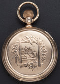 Timepieces:Pocket (post 1900), Elgin 14k Gold 16 Size Convertible Hunters Case Pocket Watch. ...