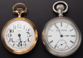 Timepieces:Pocket (post 1900), Two Elgin 18 Sizes Pocket Watches Runners. ... (Total: 2 Items)