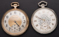 Timepieces:Pocket (post 1900), Two South Bend 12 Size Pocket Series 429 Watches Runners. ...(Total: 2 Items)
