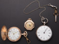 Timepieces:Pocket (post 1900), Three Lady's Running Pocket Watches. ... (Total: 3 Items)