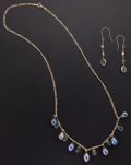 Estate Jewelry:Suites, Emerald, Cultured Pearl, Sapphire, Gold Jewelry Suite. ... (Total:2 Items)