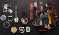 Timepieces:Other , A Grab Bag Of Thirty Eight Miscellaneous Watch Items. ... (Total: 38 Items)