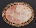 Estate Jewelry:Brooches - Pins, Shell Cameo, Gold Brooch. ...