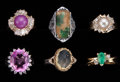 Estate Jewelry:Rings, Multi-Stone, Gold Ring Lot. ... (Total: 6 Items)