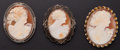 Estate Jewelry:Brooches - Pins, Cameo Brooch Lot. ... (Total: 3 Items)