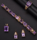 Estate Jewelry:Suites, Amethyst, Diamond, Gold Jewelry Suite. ... (Total: 4 Items)
