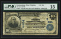 National Bank Notes:West Virginia, Parkersburg, WV - $10 1902 Plain Back Fr. 624 The Second NB Ch. #(S)864. ...