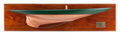 Paintings, A HALF HULL SHIP MODEL OF SHAMROCK V . 48 inches long (121.9 cm) (back plate). ...
