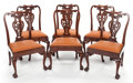 Furniture , A SET OF SIX GEORGE III MAHOGANY SIDE CHAIRS. Circa 1735. 38 inches (96.5 cm) high. PROPERTY FROM A PRIVATE TEXAS COLLECTI... (Total: 6 Items)