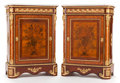 Furniture : French, A PAIR OF LOUIS XVI-STYLE INLAID KINGWOOD, MAHOGANY AND GILT BRONZEMOUNTED CABINETS. Early 20th century. 40 x 28-1/2 x 15 i... (Total:2 Items)