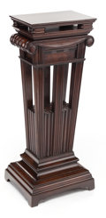 Furniture , A CARVED MAHOGANY NEOCLASSICAL PEDESTAL. Circa 1880. 42 inches high (106.7 cm). PROPERTY FROM A PRIVATE TEXAS COLL...