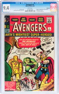 Silver Age (1956-1969):Superhero, The Avengers #1 Northland pedigree (Marvel, 1963) CGC NM 9.4 White pages....