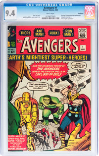 The Avengers #1 Northland pedigree (Marvel, 1963) CGC NM 9.4 White pages