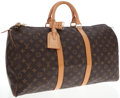 Luxury Accessories:Travel/Trunks, Louis Vuitton Classic Monogram Canvas Keepall 50cm Weekender Bag....