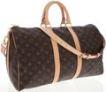 Luxury Accessories:Travel/Trunks, Louis Vuitton Classic Monogram Canvas Keepall Bandouliere 45Weekender Bag with Shoulder Strap. ...