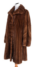 Works on Paper, A SOBARA FULL-LENGTH BROWN MINK COAT. 20th century. ...