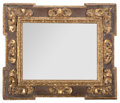 Decorative Arts, Continental, AN ITALIAN PARCEL-GILT MIRROR. Late 20th century. 41 inches high x34 inches wide (104.1 x 86.4 cm). ...