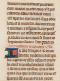 Works on Paper, EUROPEAN SCHOOL (15th Century) . Illuminated Manuscript, circa 1460. Ink on parchment. 4 x 3 inches (10.2 x 7.6 cm). F...