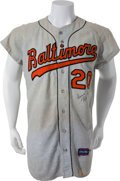 Baseball Collectibles:Uniforms, 1967 Frank Robinson Game Worn Baltimore Orioles Jersey....