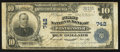 National Bank Notes:Maryland, Westminster, MD - $10 1902 Plain Back Fr. 624 The First NB Ch. #742. ...