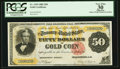 Large Size:Gold Certificates, Fr. 1193 $50 1882 Gold Certificate PCGS Apparent Very Fine 30.. ...