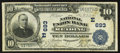 National Bank Notes:Pennsylvania, Reading, PA - $10 1902 Plain Back Fr. 624 The National Union BankCh. # (E)693. ...