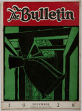 Books:Periodicals, [San Quentin]. The Bulletin. Inmates of the California StatePrison, at San Quentin, CA., December, 1928. Original p...