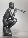 Fine Art - Sculpture, American:Other , CHARLES CARY RUMSEY (American, 1879-1922). Pan Piping.Bronze with brown patina. 20-1/2 inches (52.1 cm) high.Inscribed...