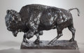 Fine Art - Sculpture, American:Modern (1900 - 1949), CHARLES CARY RUMSEY (American, 1879-1922). Bull Bison.Bronze with brown patina. 11-3/4 inches (29.8 cm) high.Inscribed...
