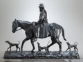 Fine Art - Sculpture, American:Modern (1900 - 1949), CHARLES CARY RUMSEY (American, 1879-1922). Old Virginian,1917. Bronze with brown patina. 16 inches (40.6 cm) high. Insc...