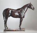 Fine Art - Sculpture, American:Modern (1900 - 1949), CHARLES CARY RUMSEY (American, 1879-1922). Bouger Red, 1912.Bronze with brown patina. 17 inches (43.2 cm) high. Inscrib...