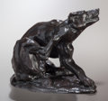 Fine Art - Sculpture, American:Modern (1900 - 1949), CHARLES CARY RUMSEY (American, 1879-1922). Dog Scratching,1912. Bronze with brown patina. 6-1/2 inches (16.5 cm) high. ...